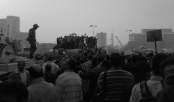 "Ramy Raoof, ""Army Trucks Surronding Tahrir Square"", Cairo"" (CC-BY-2.0)"