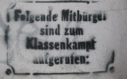"""TH. Korr, """"Aufruf zum Klassenkampf"""" (CC-Lizenz)"""