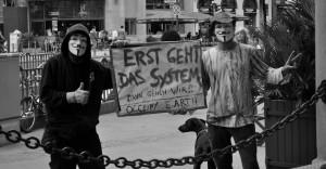 Aktivisten in Frankfurt, Bild: Oliver Desoi